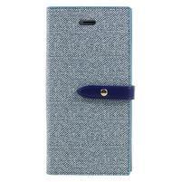 Fashions textilné peňaženkové puzdro pre iPhone 7 a iPhone 8 - modré