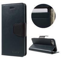 Sonata PU kožené puzdro pre mobil iPhone 8 a iPhone 7 - tmavomodré