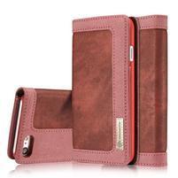 Cases štýlové textilné puzdro pre iPhone 7 a iPhone 8 - červené