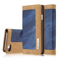 Cases štýlové textilné puzdro pre iPhone 7 a iPhone 8 - modré