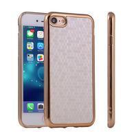 Luxury gélový obal pre iPhone 7 a iPhone 8 - strieborný