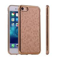 Luxury gélový obal pre iPhone 7 a iPhone 8 - zlatý