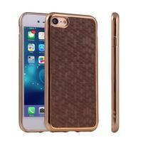 Luxury gélový obal pre iPhone 7 a iPhone 8 - coffee