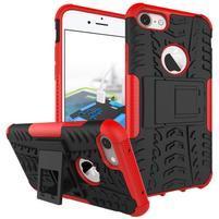 Outdoor odolný obal pre mobil iPhone 8 a iPhone 7 - červený