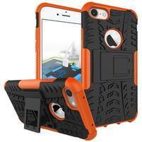 Outdoor odolný obal pre mobil iPhone 8 a iPhone 7 - oranžový