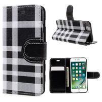 Fashion PU kožené puzdro pre iPhone 8 a iPhone 7 - čierne