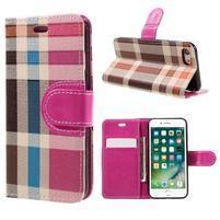 Fashion PU kožené puzdro pre iPhone 8 a iPhone 7 - rose