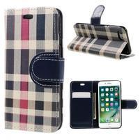 Fashion PU kožené puzdro pre iPhone 8 a iPhone 7 - modré