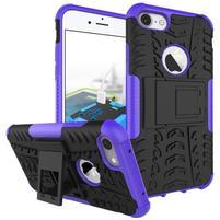 Outdoor odolný obal pre mobil iPhone 8 a iPhone 7 - fialový