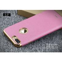 Luxy gélový obal se zlatým lemom na mobil iPhone 8 Plus a iPhone 7 Plus - rose