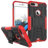 Outdoor odolný kryt pre iPhone 7 Plus - červený