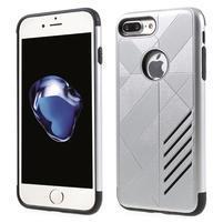 Armory odolný obal pre mobil iPhone 8 Plus a iPhone 7 Plus - strieborný
