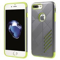Armory odolný obal pre mobil iPhone 8 Plus a iPhone 7 Plus - sivý/zelený