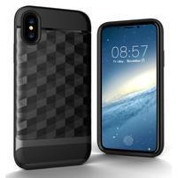 Hybridný odolný obal na mobil iPhone X - sivý