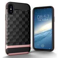 Hybridný odolný obal na mobil iPhone X - ružovozlatý