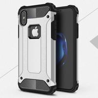 Armory odolný obal na iPhone X - strieborný