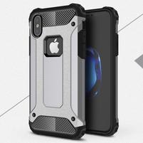 Armory odolný obal na iPhone X - sivý