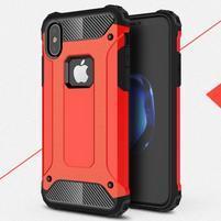 Armory odolný obal na iPhone X - červený