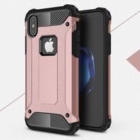Armory odolný obal na iPhone X - zlatoružový