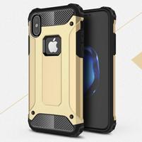 Armory odolný obal na iPhone X - zlatý
