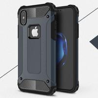 Armory odolný obal na iPhone X - tmavomodrý