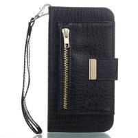 Stylecroco PU kožené puzdro na iPhone X - čierne
