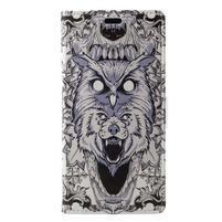 Print PU kožené peňaženkové puzdro na iPhone XR - zvieracia potlač