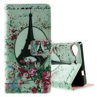 Peňaženkové PU kožené puzdro Lenovo Vibe X2 - Eiffelova veža