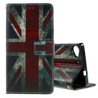 Peňaženkové PU kožené puzdro Lenovo Vibe X2 - UK vlajka