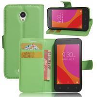Graines peňaženkové puzdro pre Lenovo A Plus A1010 - zelené