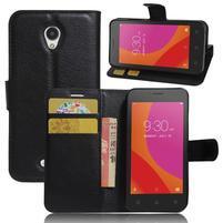 Graines peňaženkové puzdro pre Lenovo A Plus A1010 - čierné