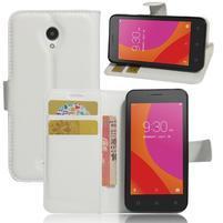 Graines peňaženkové puzdro pre Lenovo A Plus A1010 - biele