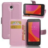 Graines peňaženkové puzdro pre Lenovo A Plus A1010 - ružové