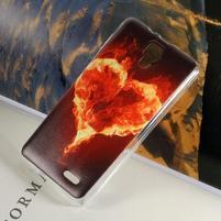 Hearts gélový obal na Lenovo A536 - ohnivé srdce