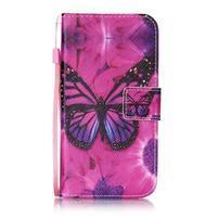 Emotive zapínacie peňaženkové puzdro na Lenovo K5/ K5 Plus - motýľ