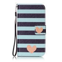 Emotive zapínacie peňaženkové puzdro na Lenovo K5/ K5 Plus - stripes