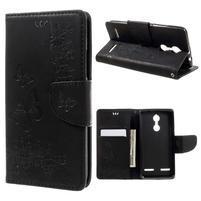 Butterfly knížkové puzdro pre mobil Lenovo K6 - čierne