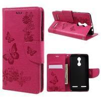 Butterfly knížkové puzdro pre mobil Lenovo K6 - rose
