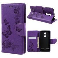 Butterfly knížkové puzdro pre mobil Lenovo K6 - fialové