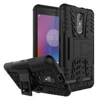 Outdoor odolný obal pre mobil Lenovo K6 - čierny