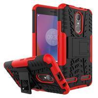 Outdoor odolný obal pre mobil Lenovo K6 - červený
