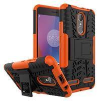 Outdoor odolný obal pre mobil Lenovo K6 - oranžový