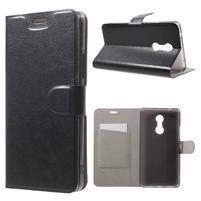 Horse PU kožené puzdro pre mobil Lenovo K6 Note - čierné
