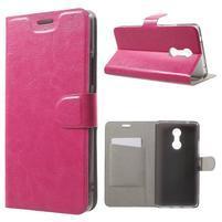 Horse PU kožené puzdro pre mobil Lenovo K6 Note - rose