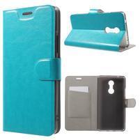 Horse PU kožené puzdro pre mobil Lenovo K6 Note - modré