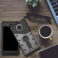 Armory odolný obal 2v1 pre mobil Lenovo Moto C - sivý