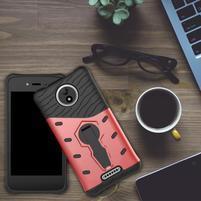 Armory odolný obal 2v1 pre mobil Lenovo Moto C - červený