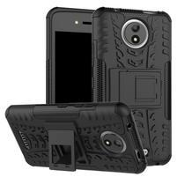 Outdoor odolný obal zo stojanom pre mobil Lenovo Moto C - čierny