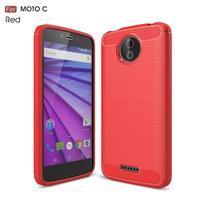 Carbo odolný obal pre mobil Lenovo Moto C - červený