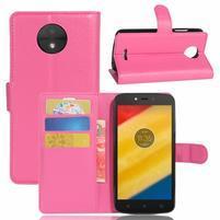 Graines knížkové puzdro pre mobil Lenovo Moto C Plus - rose